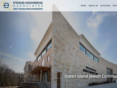 Ettinger Enginering Associates Web Site Thumbnail